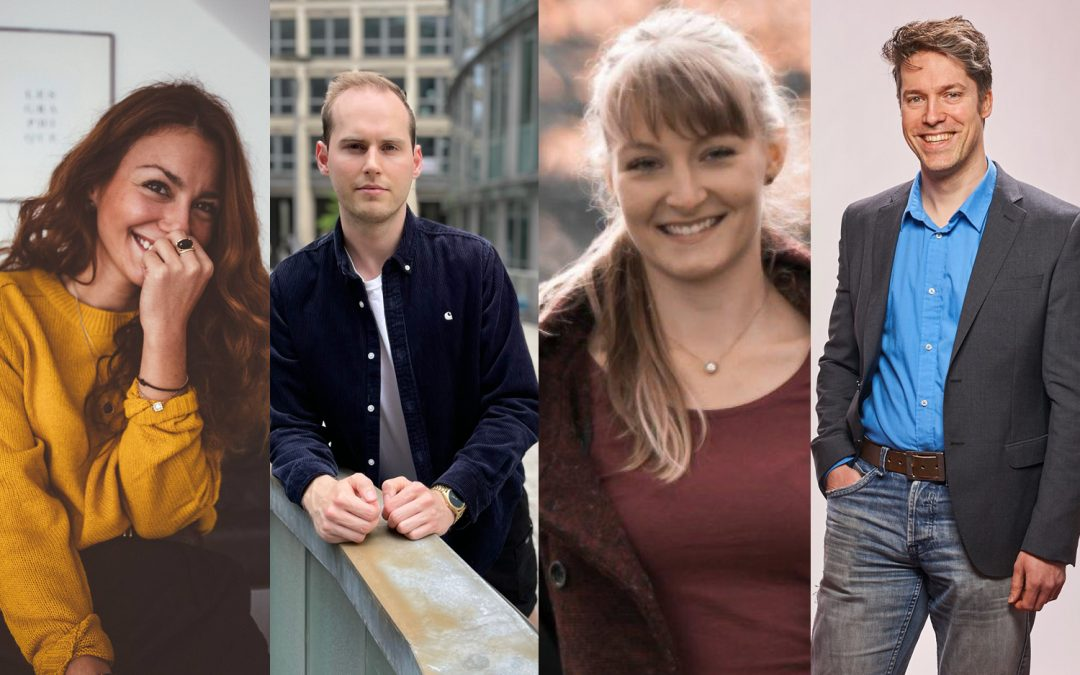 Sarah Pour, Inga Wickinger, Horst Heindl und Maximilian Hardt verstärken markenzeichen in Frankfurt, Düsseldorf und Köln